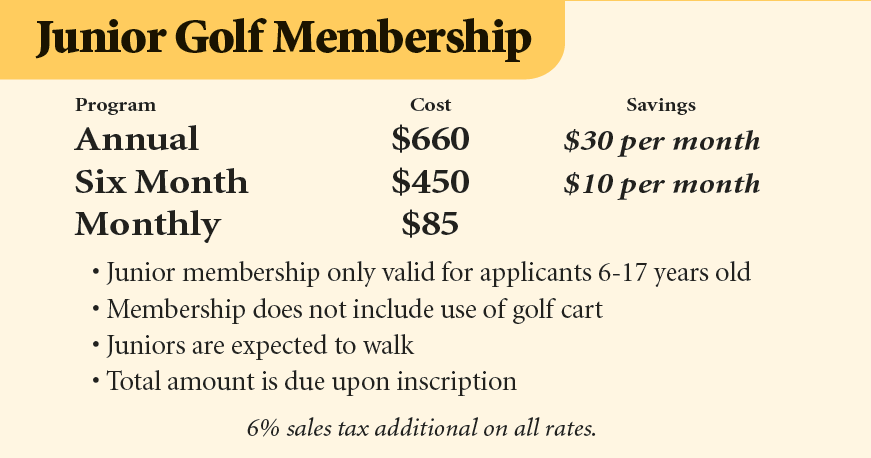 Junior Golf Membership