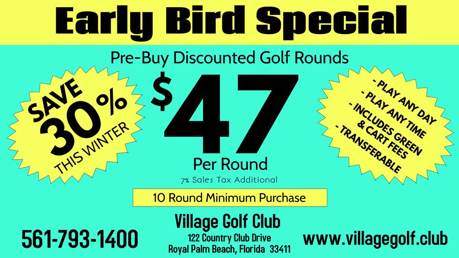 Early Bird Golf Rounds