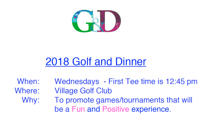 golf and dinner